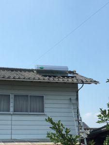 高崎市 T邸 太陽熱温水器(設置後)